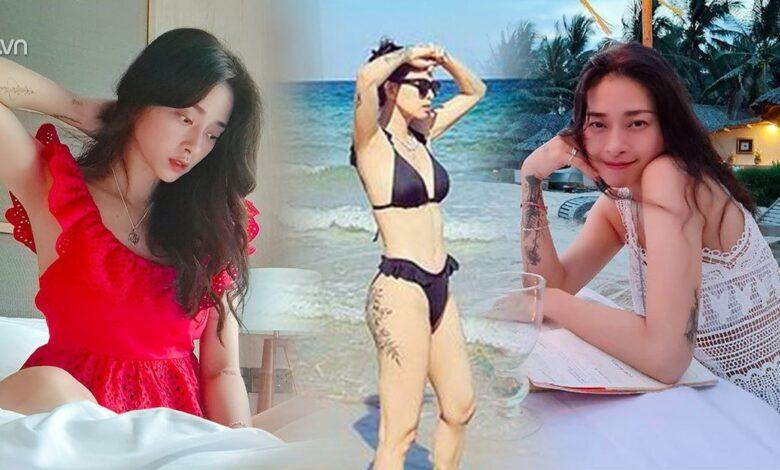 Chưa từng thấy một Ngô Thanh Vân diện áo đục lỗ, lạ hơn cả là mặc bikini bèo nhún
