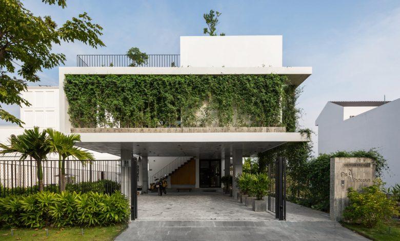 Căn nhà lấy cây xanh làm rèm