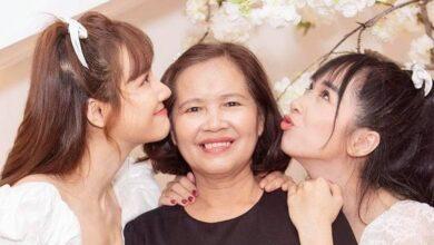 Chị em Nhã Phương thừa hưởng nét đẹp từ mẹ