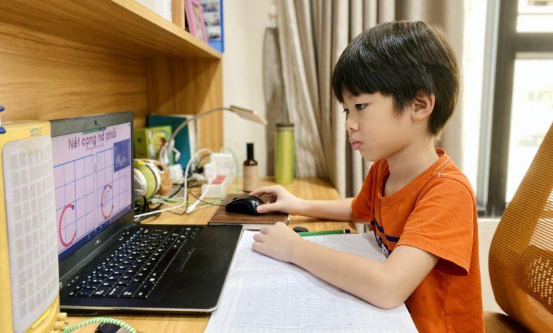 Tiết học online bậc tiểu học không quá 25 phút